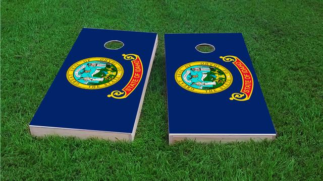 Idaho State Flag Themed Custom Cornhole Board Design