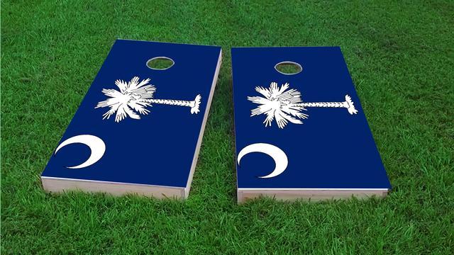 South Carolina State Flag Themed Custom Cornhole Board Design