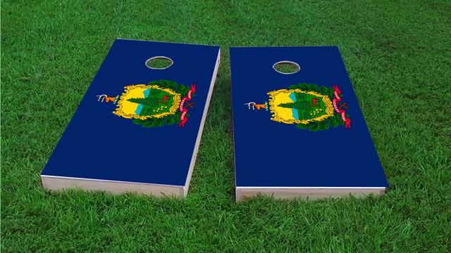 Vermont State Flag Themed Custom Cornhole Board Design