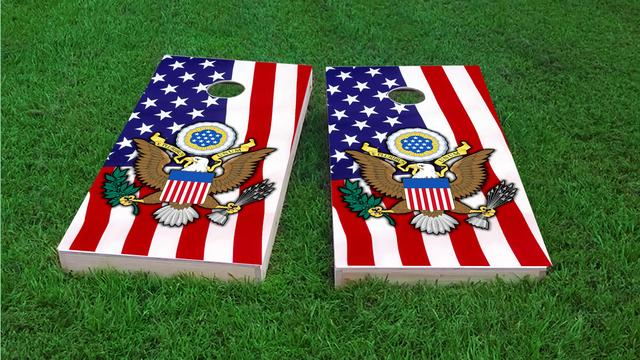 United States Seal Themed Custom Cornhole Board Design