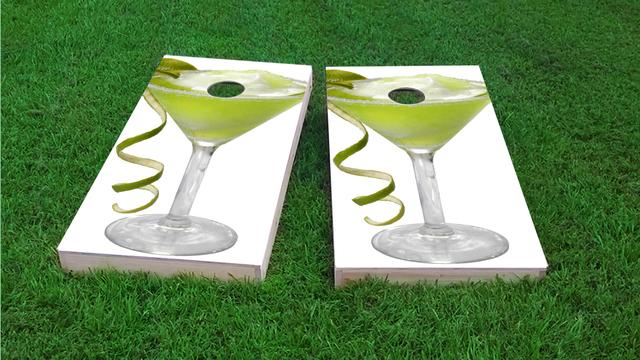 Margarita Glass Themed Custom Cornhole Board Design