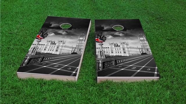 London EnglandThemed Custom Cornhole Board Design