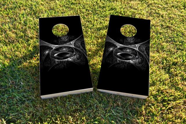 Oakley Themed Custom Cornhole Board Design