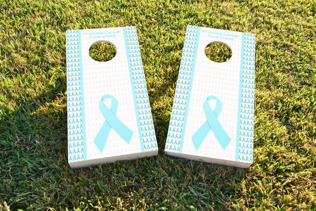 Prostate Cancer Awareness Themed Custom Cornhole Board Design