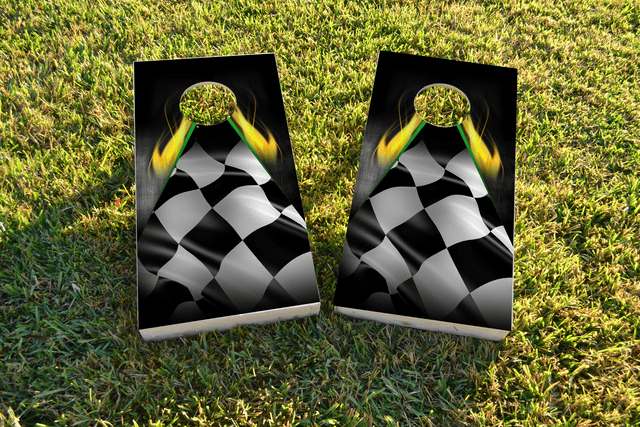 Flaming Checkered Flag