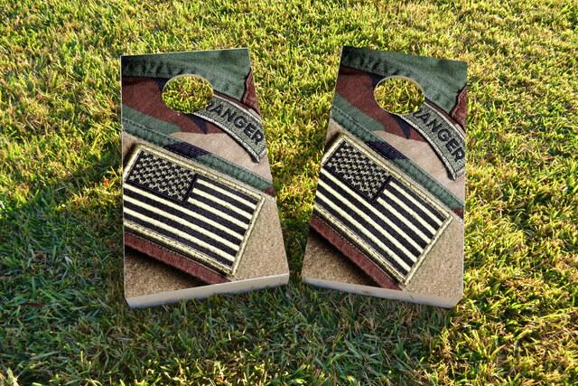 US Army Ranger Themed Cornhole Board Design