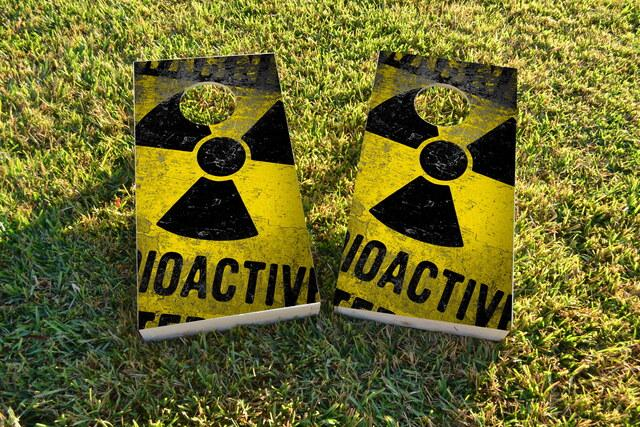 Radioactive / Nuclear Waste Themed Custom Cornhole Board Design