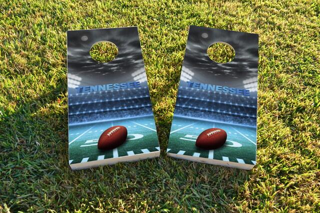 Tennessee Football Themed Custom Cornhole Board Design