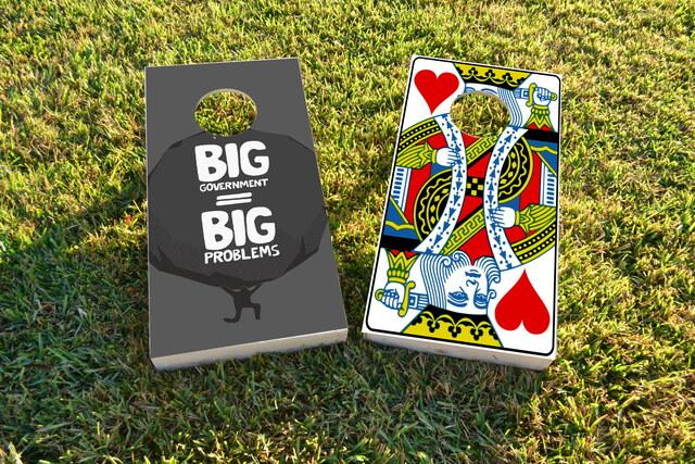 Political Big Government Themed Custom Cornhole Board Design