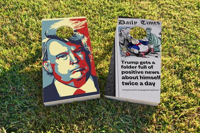 Political Trump Themed Custom Cornhole Board Design