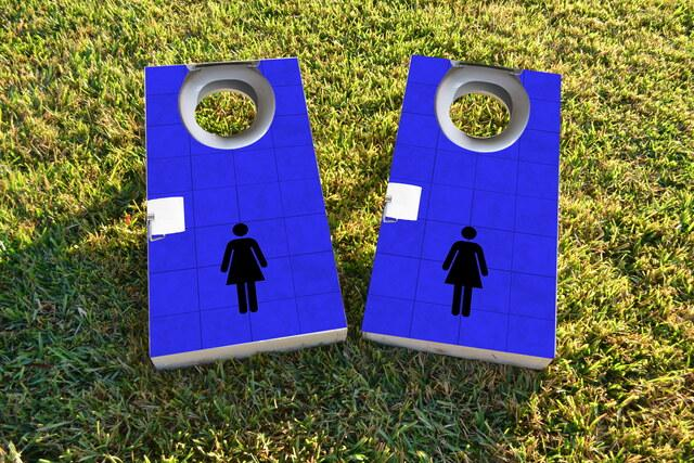Toilet Womens Themed Custom Cornhole Board Design