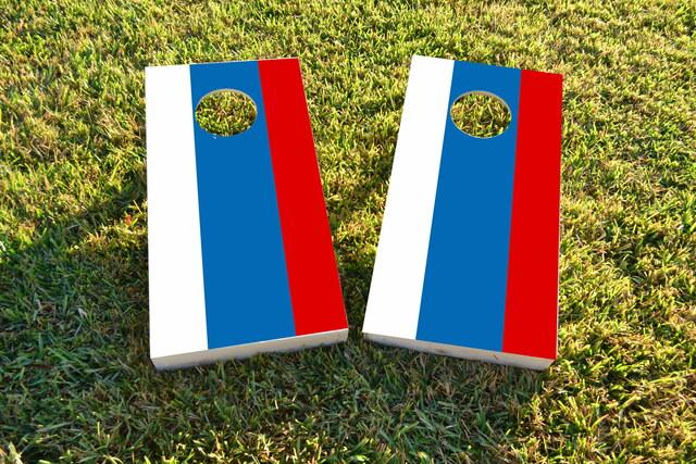 Russia National Flag Themed Custom Cornhole Board Design