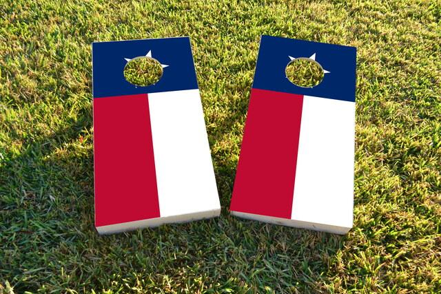 Texas State Flag Themed Custom Cornhole Board Design