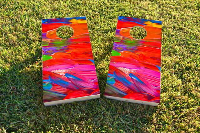Paint Themed Custom Cornhole Board Design