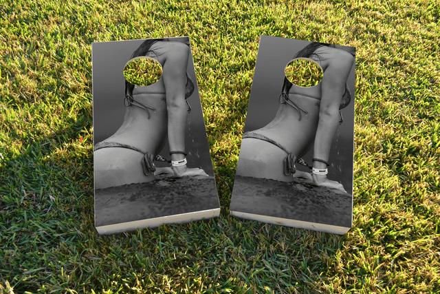 Bikini Themed Custom Cornhole Board Design