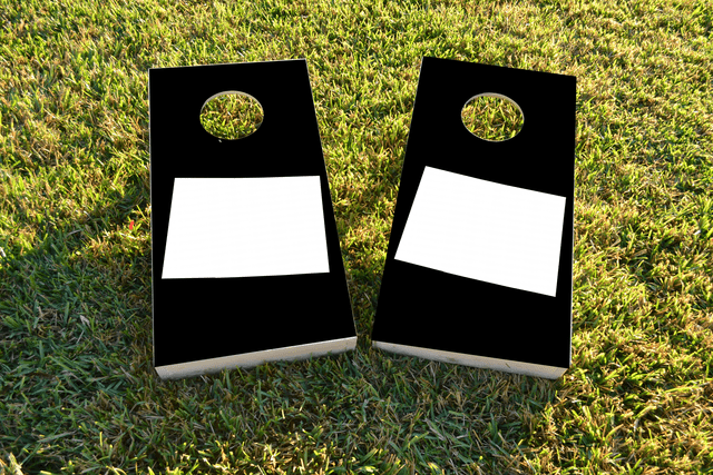 Black Colorado Themed Custom Cornhole Board Design