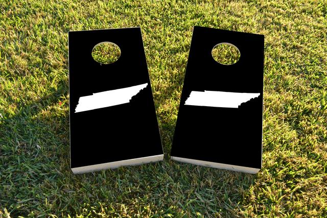 Black Tennessee Themed Custom Cornhole Board Design