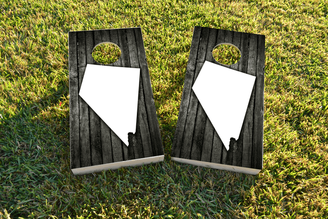 Wood Slat State (Nevada) Themed Custom Cornhole Board Design