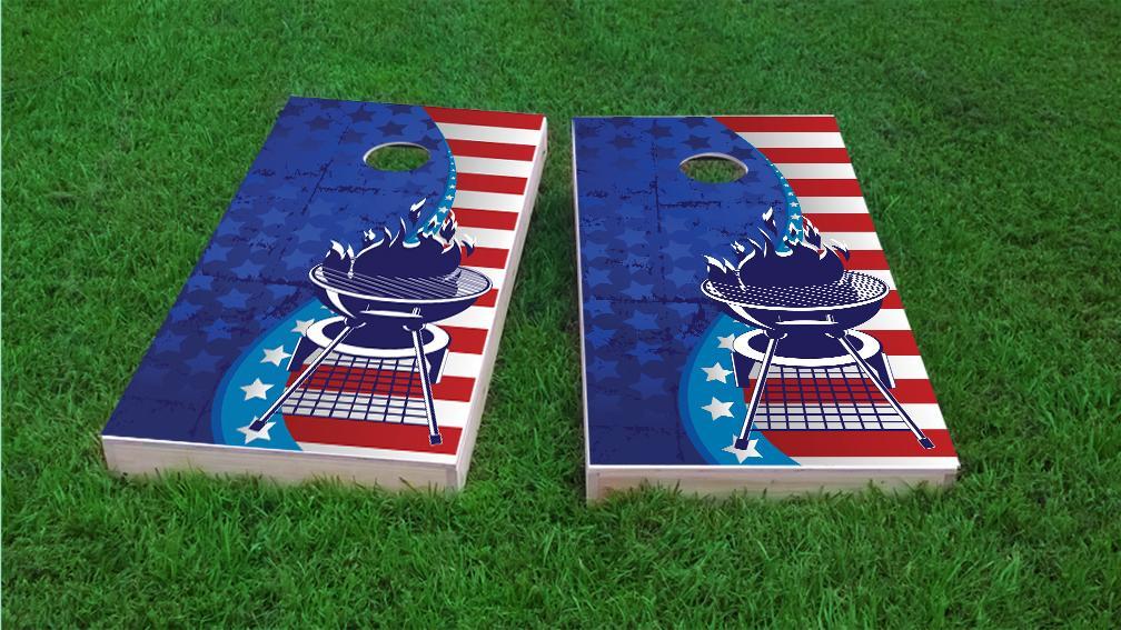 Holiday Themed Custom Cornhole Boards