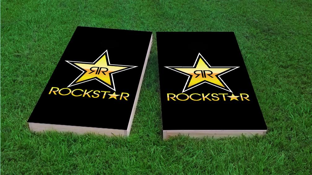 Rock Star Energy Drink Cornhole Wrap Bag Toss 3M Decal Set