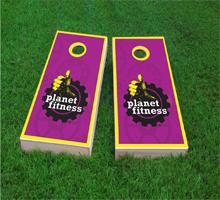 Planet Fitness Custom Cornhole Board Design