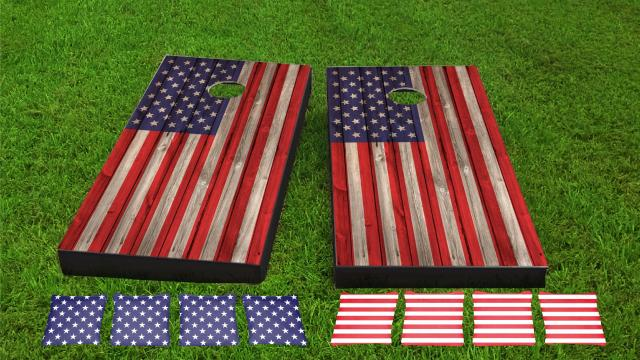Wood Slat American Flag Combo Kit
