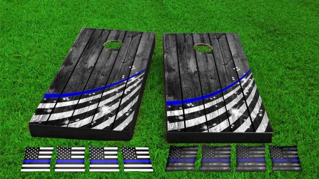 Thin Blue Line Wood Slat