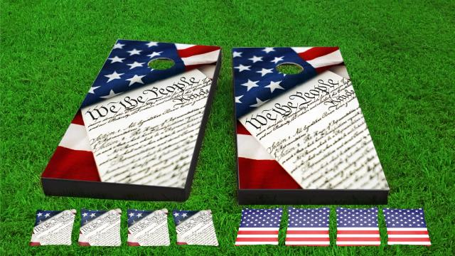 We the People Cornhole Board Combo Kit