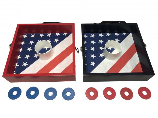 American Flag Washer Toss