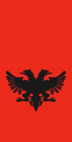 Albania National Flag Themed Custom Cornhole Board Design