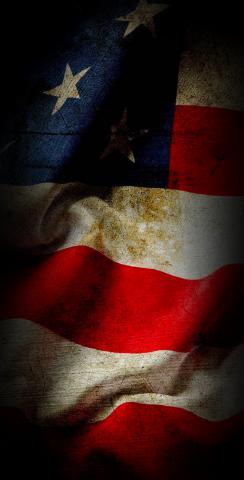 American Flag Vintage Themed Custom Cornhole Board Design