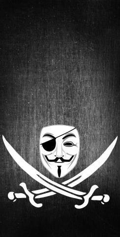 Anonymous Piracy Themed Custom Cornhole Board Design