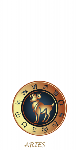 Zodiac White (Aries) Themed Custom Cornhole Board Design