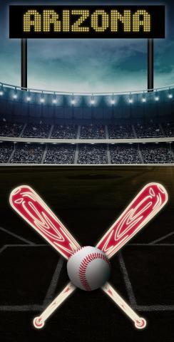 Arizona Baseball Themed Custom Cornhole Board Design