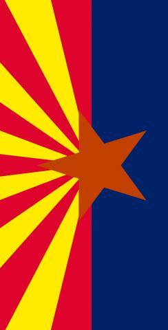 Arizona State Flag Themed Custom Cornhole Board Design