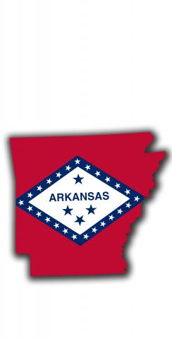 Arkansas State Flag Outline (White Background) Themed Custom Cornhole Board Design