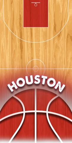 Basketball Houston Themed Custom Cornhole Board Design
