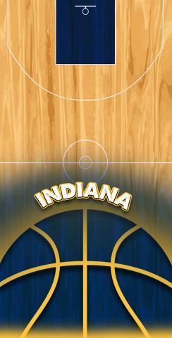 Basketball Indiana Themed Custom Cornhole Board Design