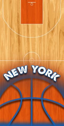 Basketball New York Themed Custom Cornhole Board Design