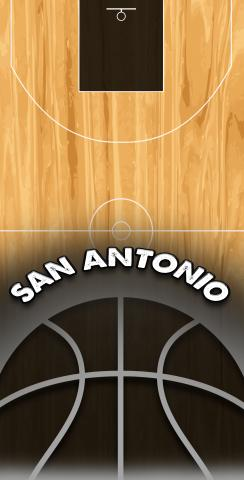 Basketball San Antonio Themed Custom Cornhole Board Design