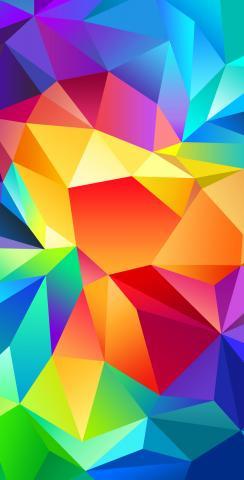 Bright Colored  Flipped Prisms Themed Custom Cornhole Board Design
