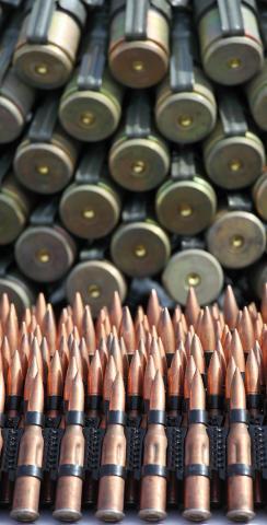Bullet / Ammunition Themed Custom Cornhole Board Design