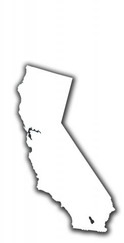 White California Themed Custom Cornhole Board Design