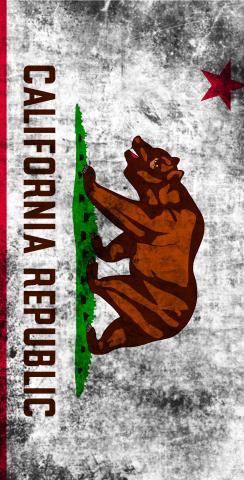 Worn State (California) Flag Themed Custom Cornhole Board Design