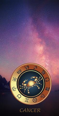Zodiac Stars (Cancer) Themed Custom Cornhole Board Design
