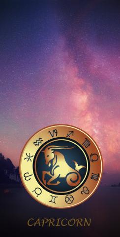 Zodiac Stars (Capricorn) Themed Custom Cornhole Board Design