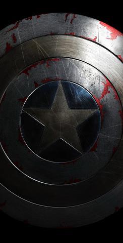 Captain America Shield Themed Custom Cornhole Board Design