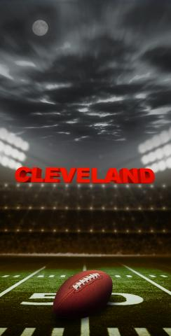 Cleveland Football Themed Custom Cornhole Board Design