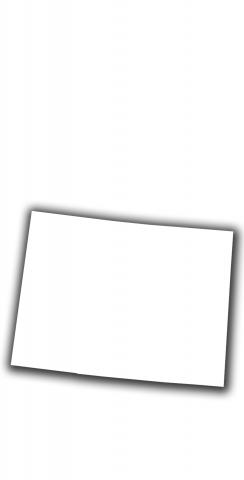 White Colorado Themed Custom Cornhole Board Design