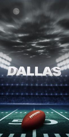 Dallas Football Themed Custom Cornhole Board Design